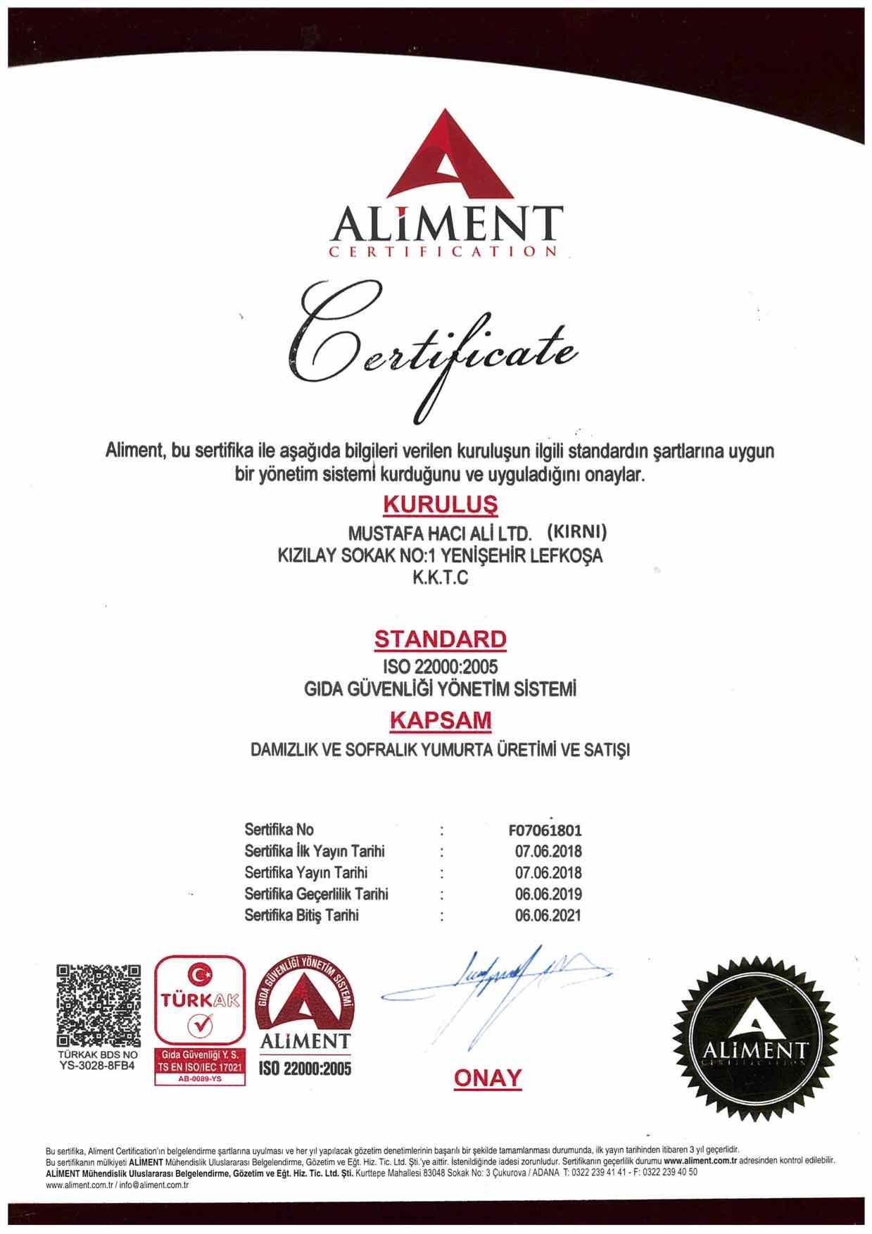 ISO 22000-2005_Yumurtacılık